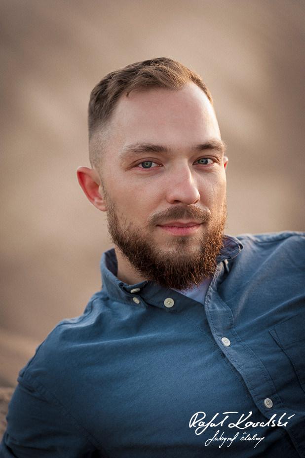 Sesja Narzeczeńska fotograf gdańsk Rafał Kowalski portret przyszłego Pana Młodego