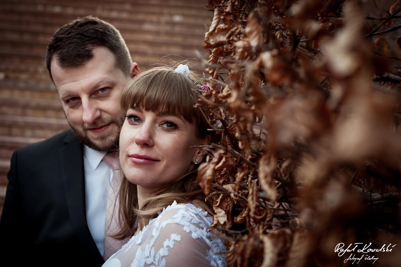 Zdjęcia Ślubne Gdynia - portret ślubny pary młodej w ciepłej brązowej tonacji