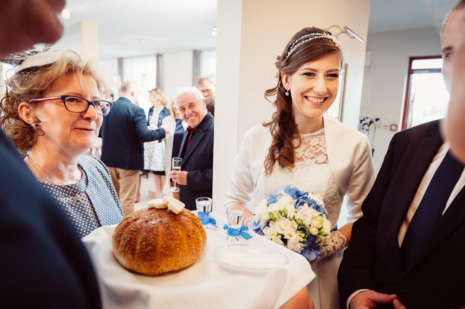 Powitanie Pray Młodej chlebem i solą Sala Bankietowa Aura
