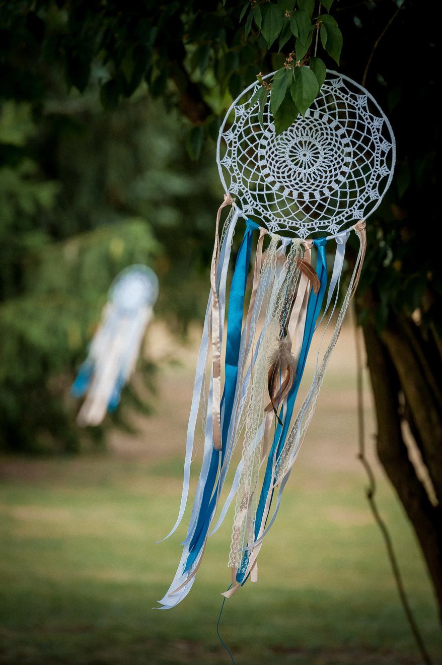 Dekoracja ślubu w plenerze łapacz snów