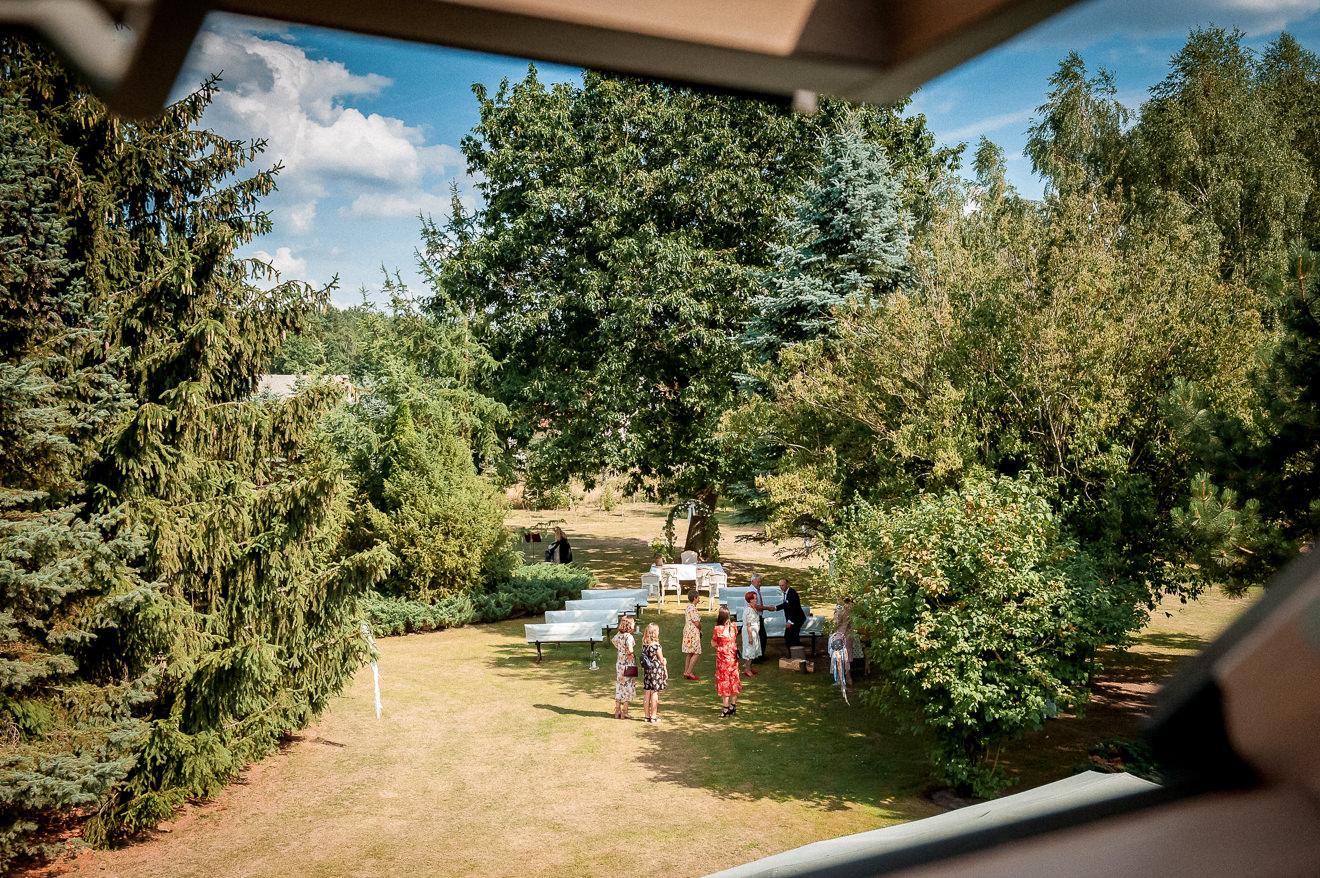 Nastrojowy Ogród na ślub w plenerze