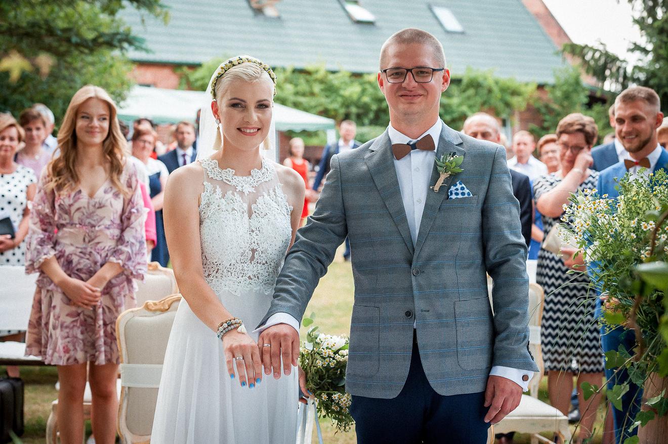 Państwo Młodzi Tuż po przysiędze małżeńskiej