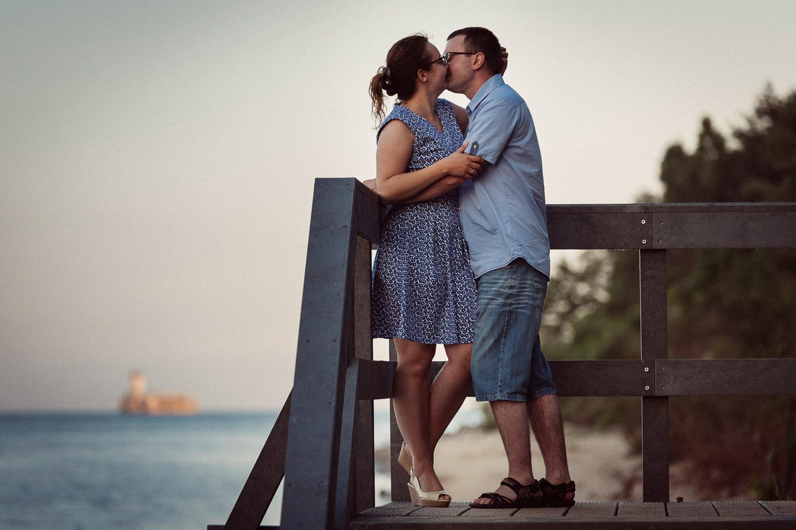 polskie morze jest bardzo wdzięcznym tłem do romantycznych sesji zdjęciowych