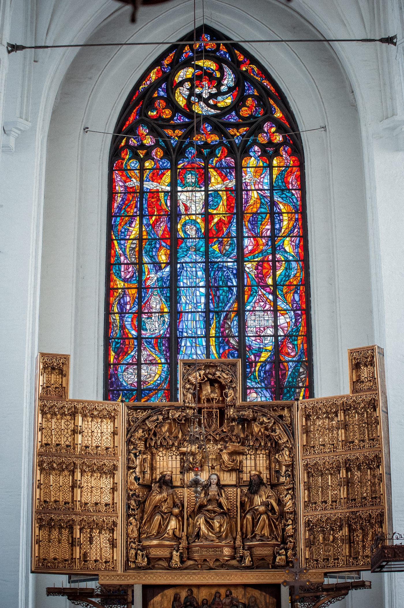 Ołtarz główny Michała z Augsburga w kościele mariackim w Gdańsku