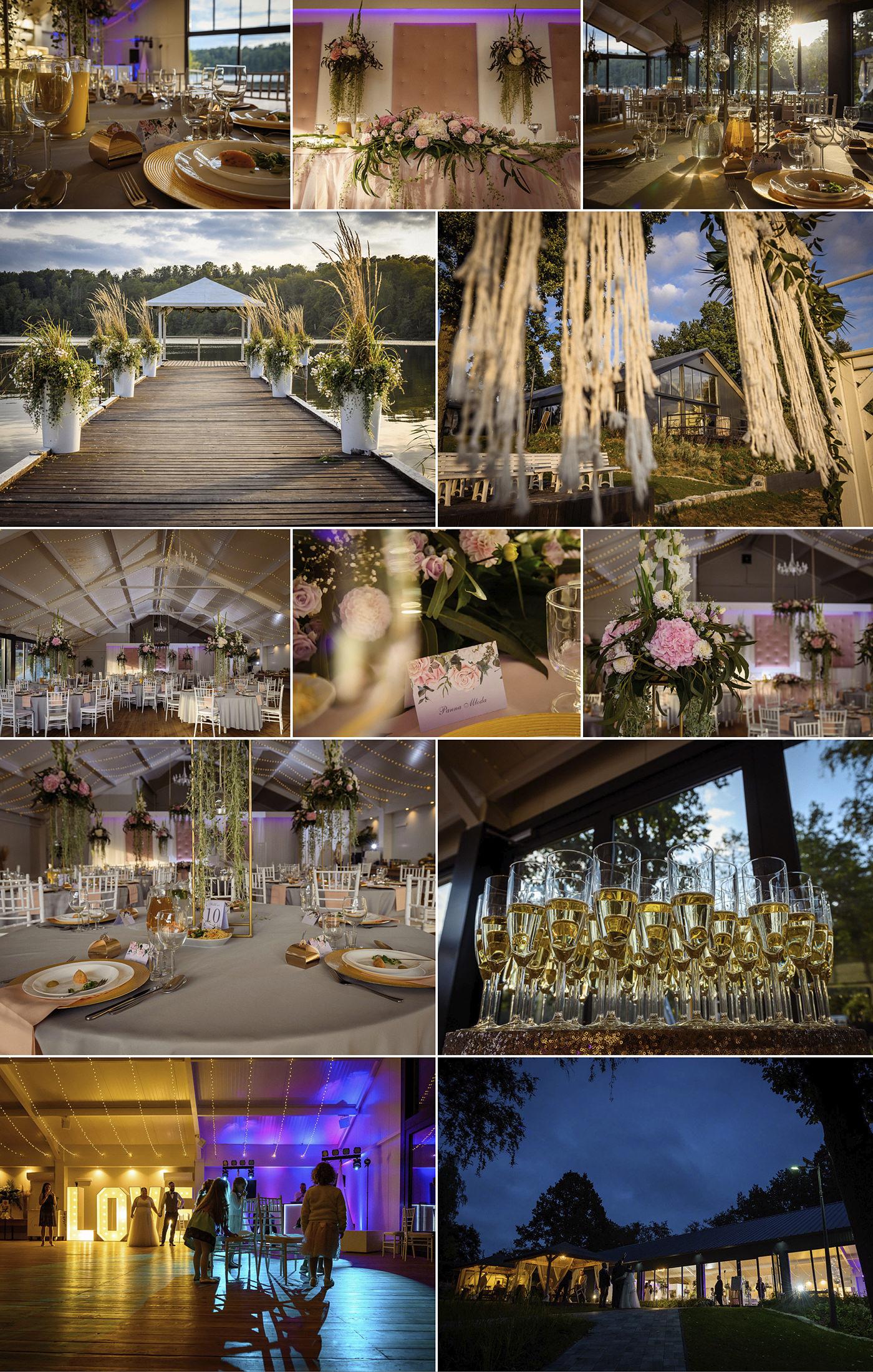 Sala na wesele pomorskie dom weselny Hotel Otomin